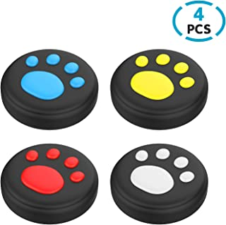 DiMiK Thumb Grips for Switch & Lite, Cat Paw Puppy Paw Cute Silicone Joystick Covers Caps for Nintendo Switch/ Switch Lite...