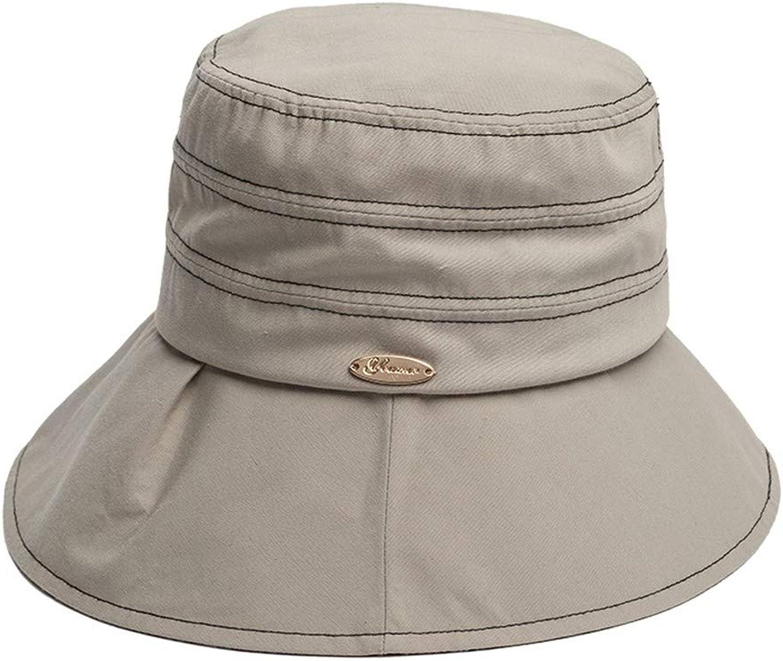 Ladies Sun Hat Beach Hats,Sun hat Female Sunscreen Summer Getaway Seaside Big Along Outdoor Shade Folding Excursion Windproof Beach hat