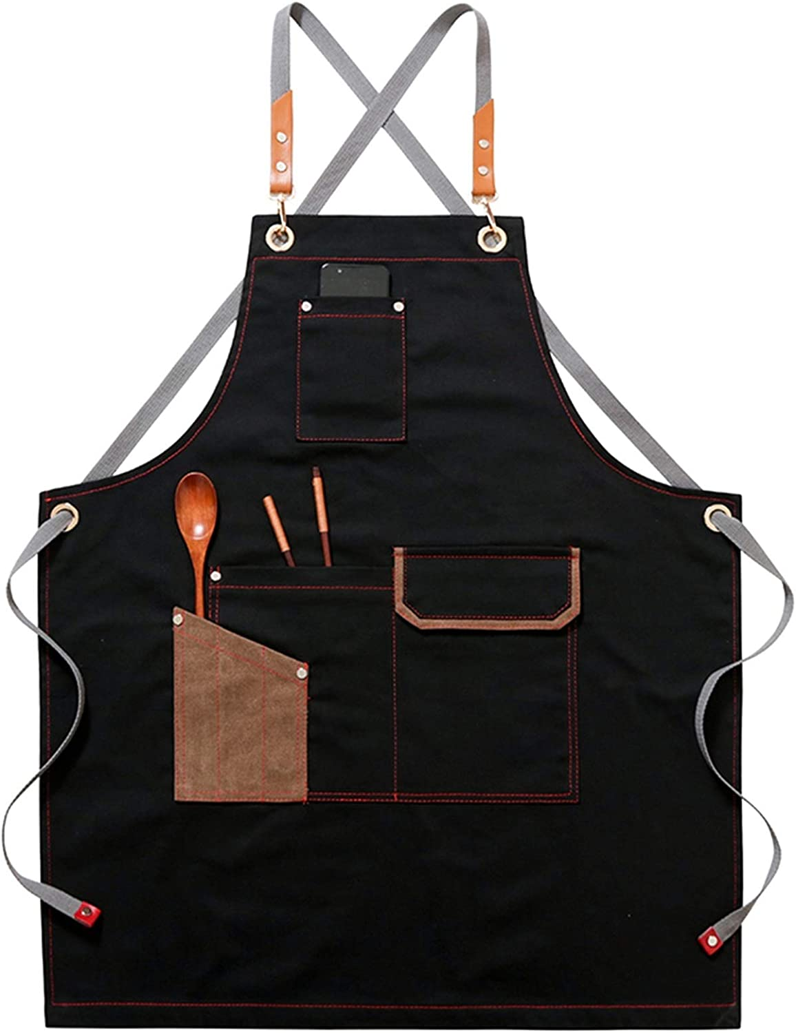 VVBBS CNlxxng Chef Aprons Ranking TOP7 for Men Apron Max 58% OFF Baking with Adjus Pocket
