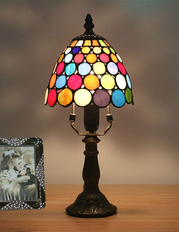 Xiuxiu Europäische Kreative Retro Glasmalerei Tischlampe Schlafzimmer Nachttischlampe Esszimmer Wohnzimmer Bar Dekoration Tischlampe B07JFCYPCV | Kaufen Sie beruhigt und glücklich spielen