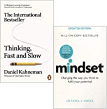 Thinking, Fast and Slow By Daniel Kahneman & Mindset - Updated Edition: Changing The Way You think To Fulfil Your Potentia...