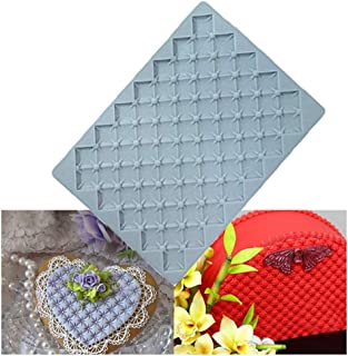 BUSOHA Pearls Grid Cake Border Fondant Mold/Billow Texture Silicone Embossed Mold/Impression Moulds for Cake Cupcake Decoration, Cookies, Candies, Sugarpaste