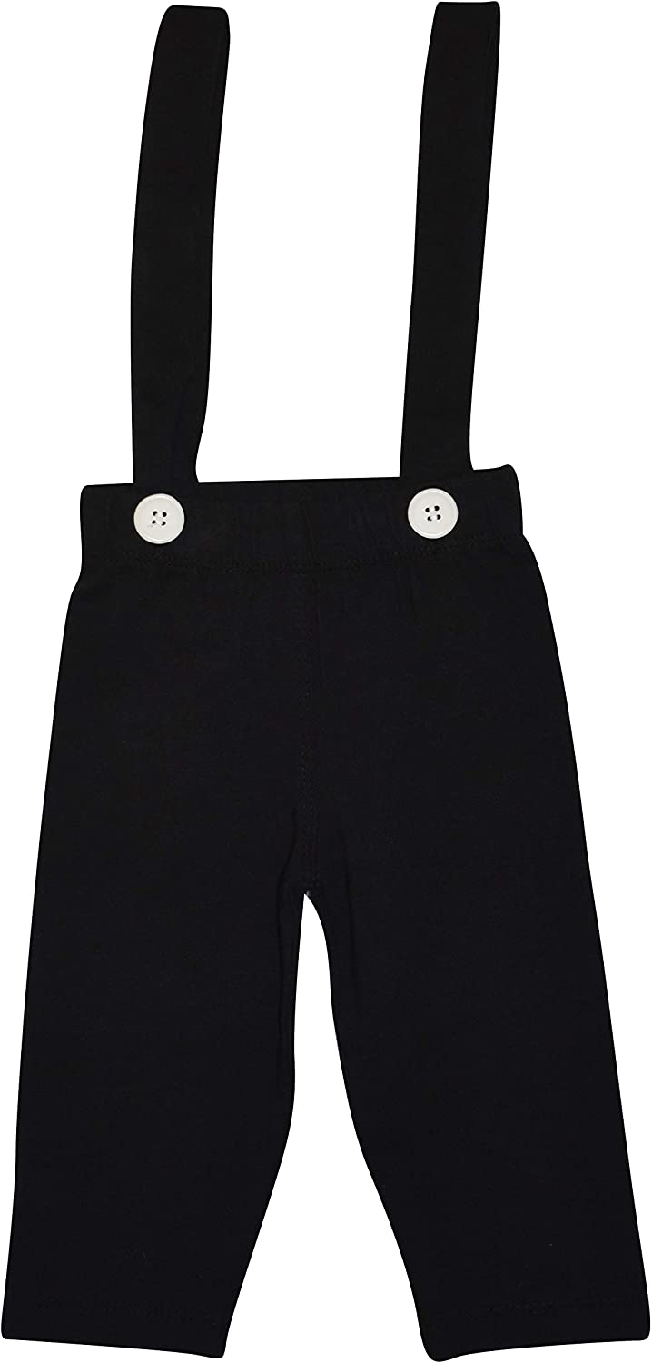 Unique Baby Boys New Years Clocks Polo Suspender Pants Outfit Set