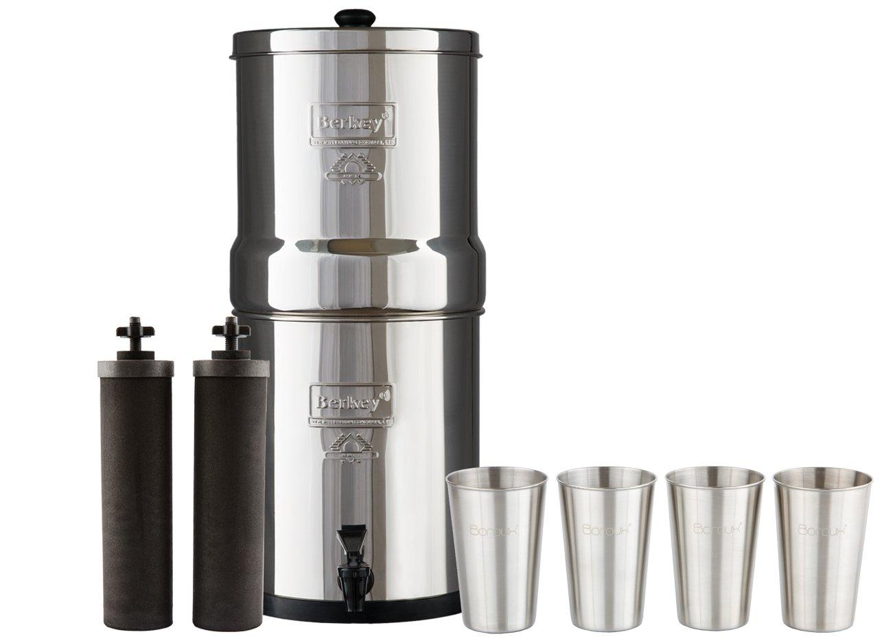Berkey - Sistema de filtro de agua con 2 filtros purificadores de ...