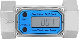 1.5″ Digital Turbine Flow Meter,Mini Gas Oil Fuel Flowmeter,Pump Flow Meter Diesel Fuel Diesel Kerosene Line Pipe Counter for Chemicals Water etc