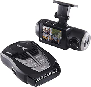 Cobra SC 201 Smart Dash Cam and RAD 480i Laser Radar Detector– Full HD 1080P Video Recording, Dual-View with Built-In Cabin View, IR Night Cabin Vision, Bluetooth, Front and Rear Detection, Black
