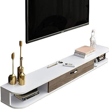 TV Cabinet, TV Lowboard, Floating Shelves, Wall Mounted Media Console, Wall-Mounted TV Cabinet Wall Cabinet, Living Room Bedr