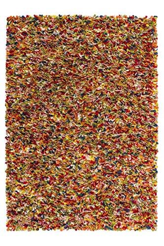 Obsession Hochflor-Teppich, Unique 720«, Höhe 35 mm, handgearbeitet, Wolle bunt 100% gefilzte Wolle