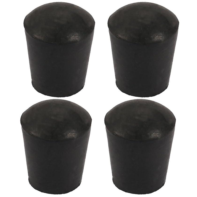 シェフ引き渡す加入uxcell パイプキャップ 椅子足パッド テーブル足キャップ ゴム ラウンド 内径16mm 家具用 4個入り
