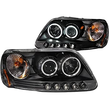 Amazon.com: Anzo USA 111097 Ford F-150 Black Clear Projector With Halos  Headlight Assembly - (Sold in Pairs): AutomotiveAmazon.com