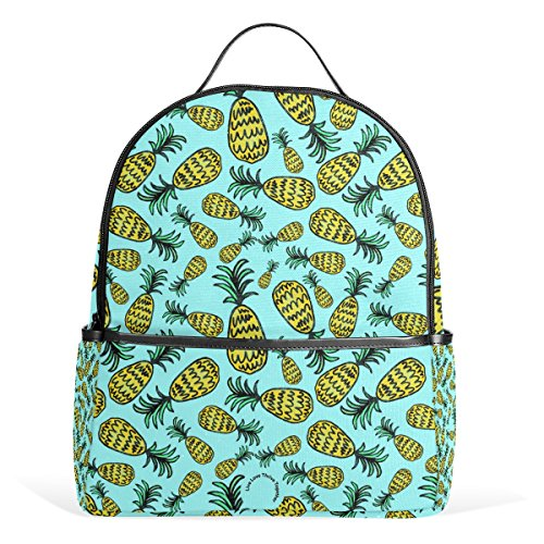 TIZORAX Fresh and Juicy Summer Pineapple Laptop Backpack Casual Shoulder Daypack for Student School Bag Handbag - Lightweight