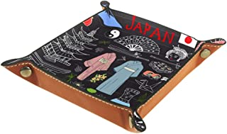 BestIdeas Panier de rangement carré de 16 × 16 cm, avec dessin japonais, boîte de rangement sur table pour la maison, le b...