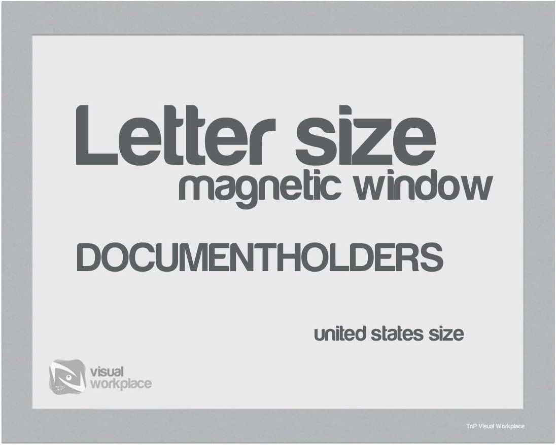 Magnetic Window New popularity Document Holder Letter of Max 65% OFF Silver 5 Pack