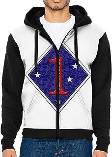 Men's Marine Corps First Division Sportswear Hoodie Full Zip Hooded Sweatshirt Jacket