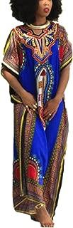 Women Dress,Haoricu Fall Women Fashion African Print Dress Casual Straight Print Dress