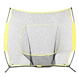 mymotto gabbia rete di allenamento baseball–7x 7ft/5x 5ft Baseball Softball Practice rete con quadro di Arc, giallo