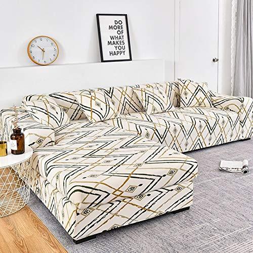 MKQB Funda de sofá de Esquina para Sala de Estar, Funda de sofá elástica elástica, Funda de sofá Modular en Forma de L Antideslizante Envuelta herméticamente NO.9 XL (235-300cm)