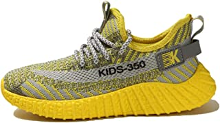 AUCDK Unisex Kids Casual Sneakers Breathable Mesh Upper Lightweight Trainers for Running and Outdoor Sports