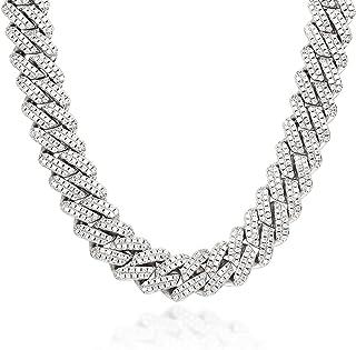 قلادة ميامي كوبي لينك سلسلة ذهبية / فضة بلينغ ميامي كوبي، سلسلة الماس للرجال النساء مثلج خارج مجوهرات الهيب هوب