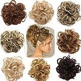 VOLUMINÖS Haarverlängerung Haargummi Haarteil hairpiece Haarverdichtung Zopf Scrunchie Haarband Haarschmuck Hellbraun bis Graublond