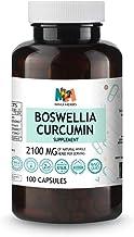 Sponsored Ad - Boswellia Curcumin 100 Vegan Capsules, 2100MG, Curcumin Turmeric Root Extract, Frankincense, Black Pepper