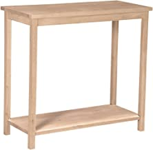 Best natural solid oak console table Reviews