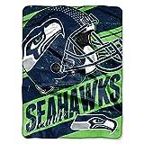 Officially Licensed NFL Seattle Seahawks 'Deep Slant' Micro Raschel Throw Blanket, 46' x 60', Multi Color