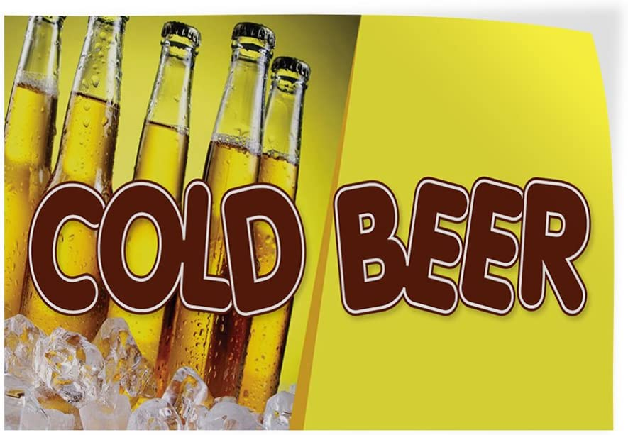 Over item handling Decal Stickers store Multiple Sizes Cold Advertising Outdoor Beer Prin