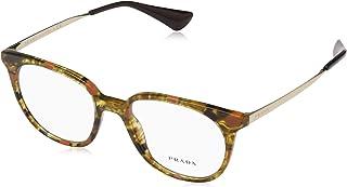 bed88b5133 Prada 0PR 13UV Monturas de gafas, Striped Brown/Orange, 50 para Mujer