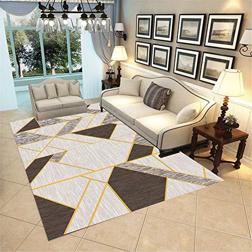 RUGMRZ Alfombras Online Baratas Simple Geométrico Suave y Hermosa, Salón Limpio, Alfombra...