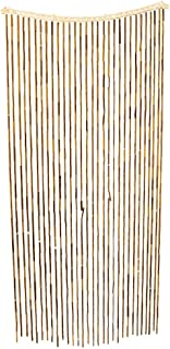 All Fun Gifts Bamboo Beaded Door Curtain - Assorted Designs (Brown)