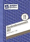 AVERY Zweckform 867 Garderobennummern farblich sortiert