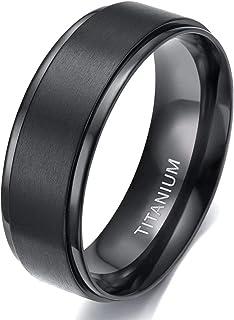 TIGRADE 4mm / 6mm / 8mm Titan Tings Wedding Band در سیاه و سفید در پایان مات و لباس راحت برای مردان
