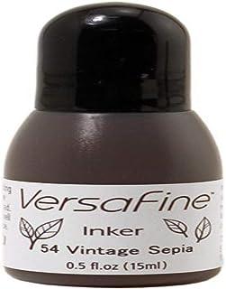 Tsukineko 1/2 Fluid Ounce VersaFine Pigment Inker, Vintage Sepia