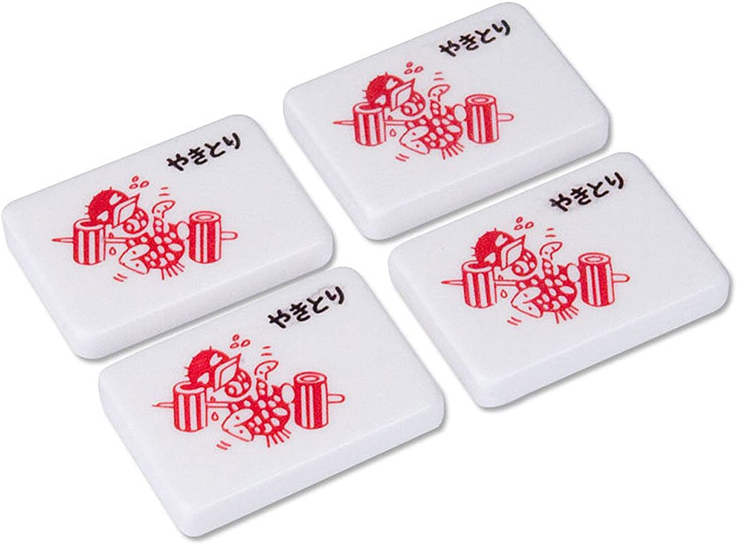 Sweating Sparrow Yakitori Marker Tiles  Set of 4