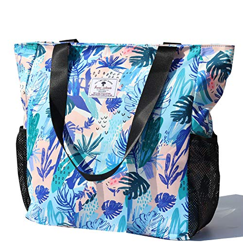 Buy Cheap Original Floral Water Resistant Large Tote Bag Shoulder Bag for Gym Beach Travel Daily Bag...