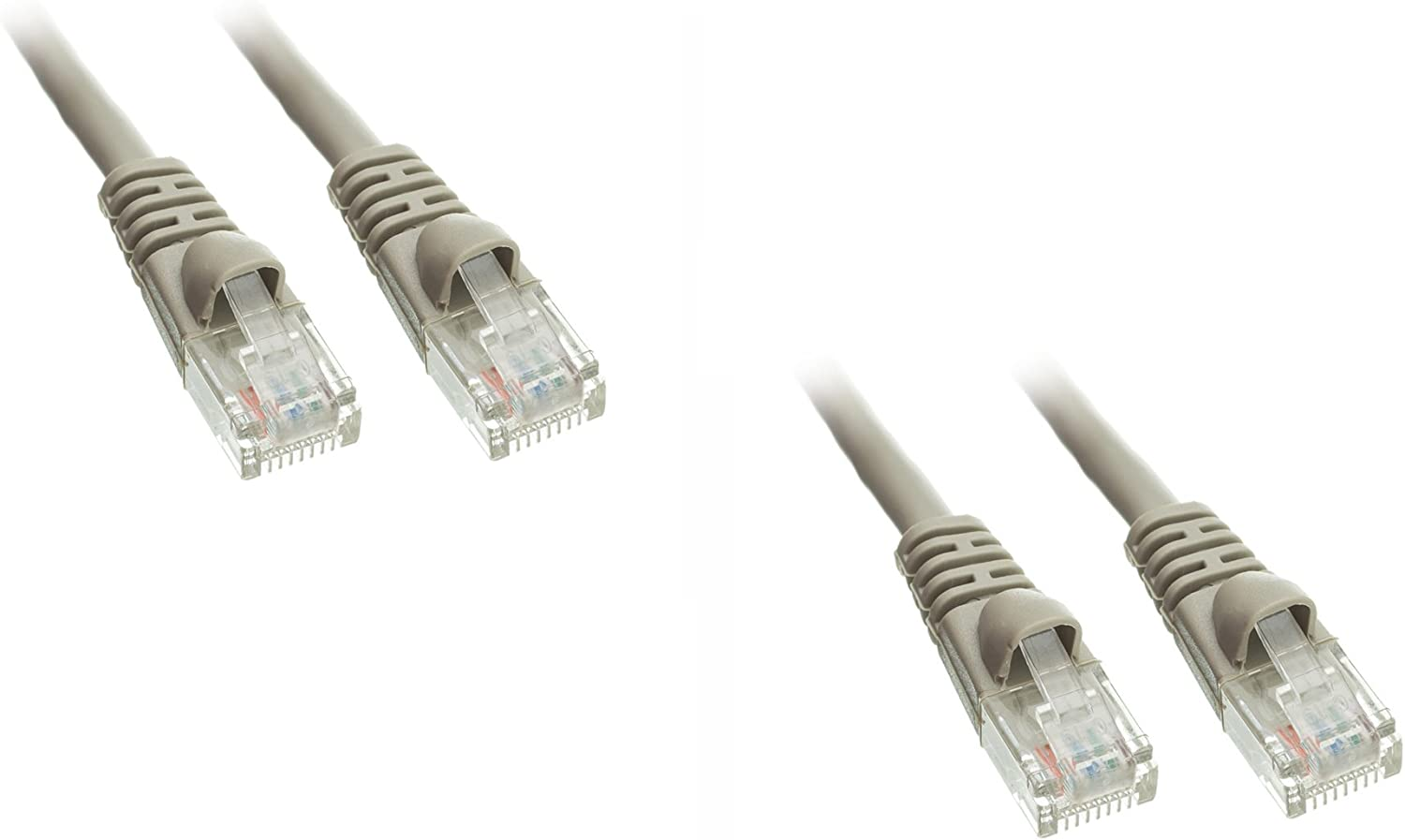 CNE484063 4 Pack Cat6 Snagless//Molded Boot Ethernet Patch Cable 50 Feet Gray