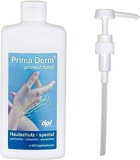 Prima Derm Hautcreme Protect Hand Premium Handcreme 500 ml mit Dosierpumpe, Spezial-Hautschutzcreme, Creme bei trockener und rissiger Haut