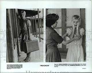 Historic Images - 1985 Press Photo Diana Scarwid and Roberta Maxwell in Psycho III