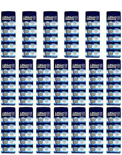 E-Goal Akku Lithium CR2032 Knopf Zelle Batterien 3V, 100pcs
