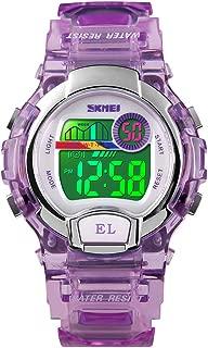Kids Digital Waterproof Watch, Girls Sport Outdoor Colorful Luminous Boys Wristwatches with Alarm Stopwatch
