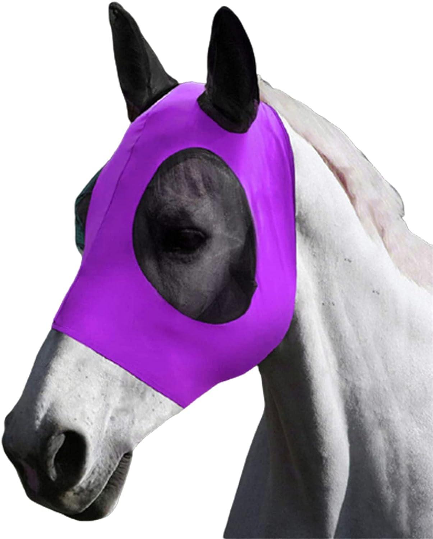 Cubierta de Mosca de Caballo Cubierta de Cara de Caballo Sombrero de Caballo, Casco Antimosquitos para Pony, Burro, Mula