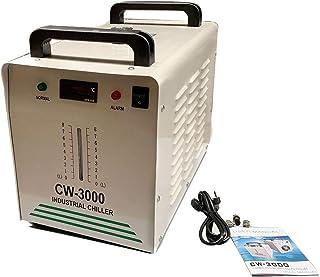 Cozyel Water Chiller 9L Agua de Enfriamiento Industrial 10L / min de Agua Chiller Enfriador 50W/℃ Agua de Refrigeración Chiller 60 Tubo / 80W CO2 Láser de Cristal (CW-3000)