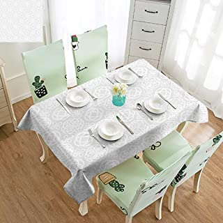GUUVOR Celtic Iron-Free Anti-fouling Holiday Long Tablecloth Retro Tribal Celtic Knots Eternity Forms Pattern Boho Ireland Irish Floral Artwork Table Decoration W60 x L84 Inch Grey White