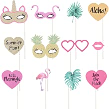ABOOFAN 12 peças adereços para fotos de verão criativo flamingo para fotos adereços para festas havaianas ornamento de pap...