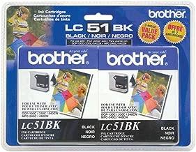 Brother LC51-2PKS Black Ink Cartridge Twin Pack Standard Yield (2x 500 Yield)