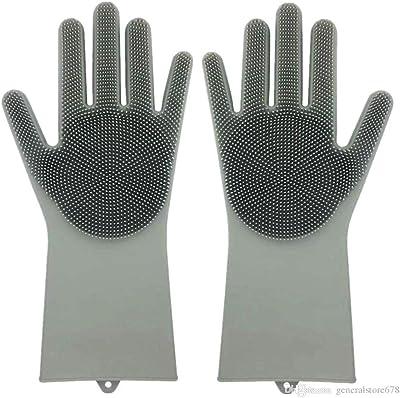 KITCHENGRAM Dishwashing Silicone Gloves for Kitchen (Free Size)