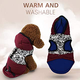 Decdeal Pet Clothes Sweatshirts Dog Coats Hooded Vest Jackets for Puppy Pet Hoodie Dog Clothes Dog Hoodie Pet Clothes Sweaters with Hat