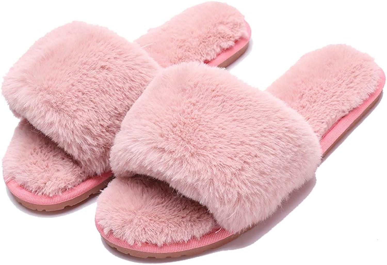 York Zhu Winter Fluffy Slippers - Soft Non-Slip Slip-on shoes Floor House Slippers