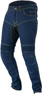 Jet Motorradjeans Motorradhose Jeans Kevlar Herren Aramid Stretch Mit Protektoren TECH PRO (64 Lang/Weite 48' Länge 34' (7XL), Blau)